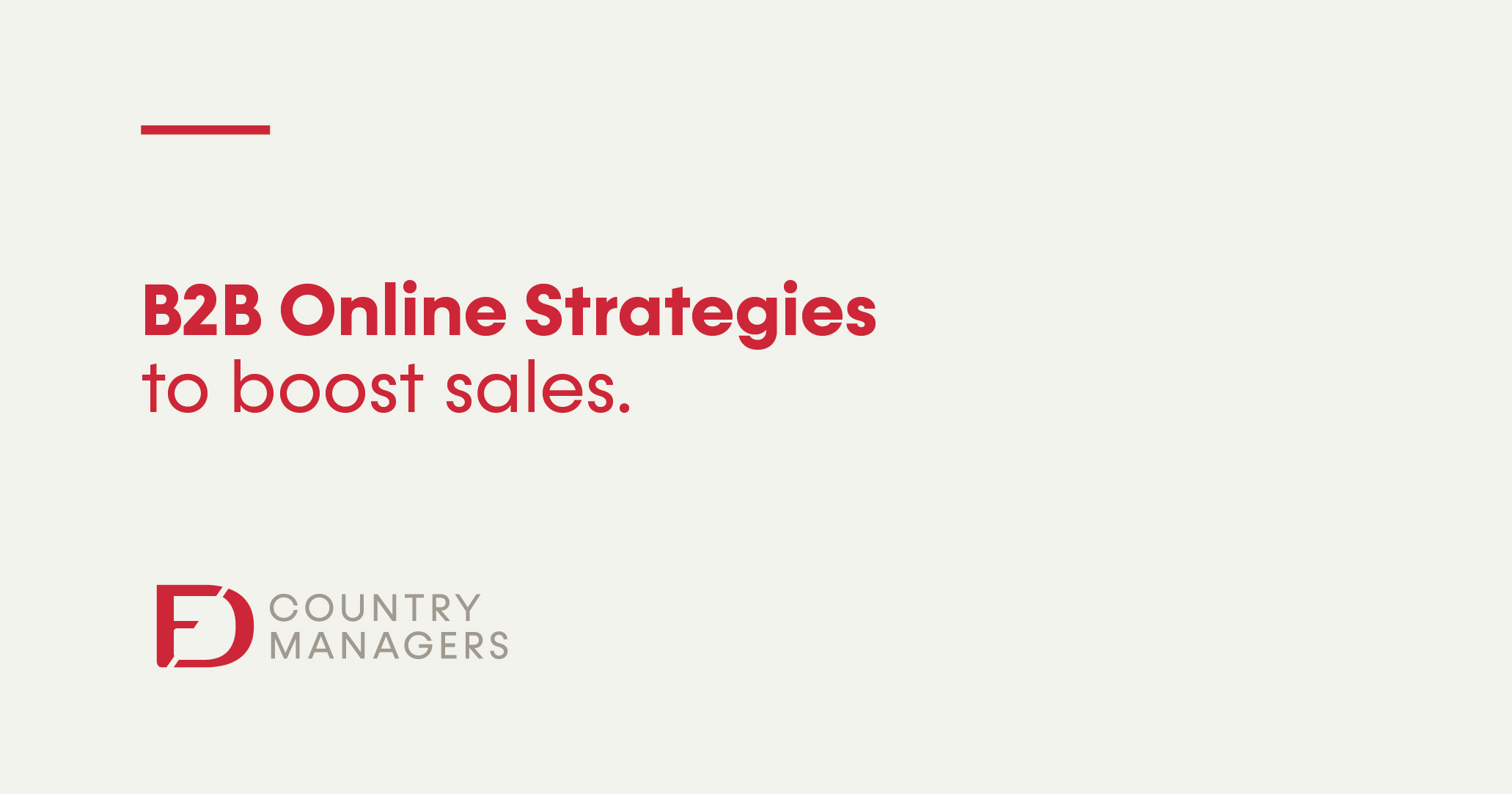 B2B Online Strategies to boost sales